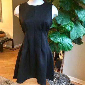Sans Souci black structured a-line party dress